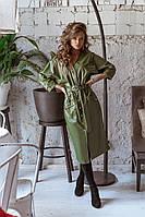 Женское модное платье из эко кожи