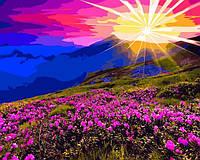 Картина по номерам Рассвет в горах (VP1165) 40 х 50 см DIY Babylon
