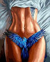 Картина по номерам Синяя птица (VP1182) 40 х 50 см DIY Babylon