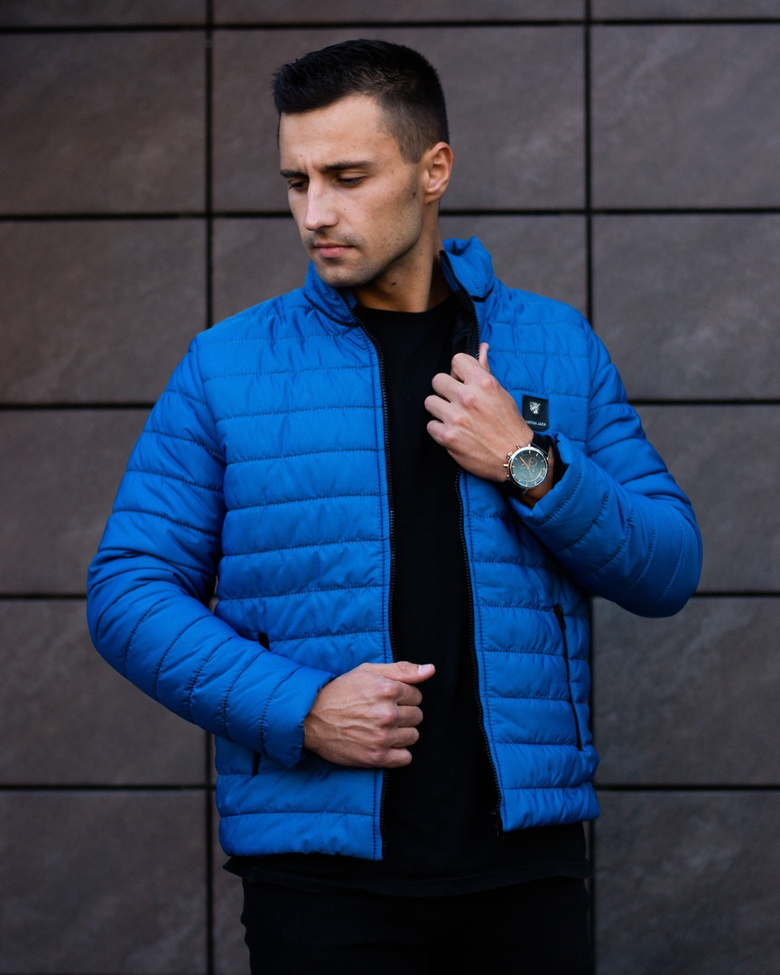 Куртка мужская голубая.Мужская демисезонная куртка  Osten  Blue. ТОП КАЧЕСТВО!!!