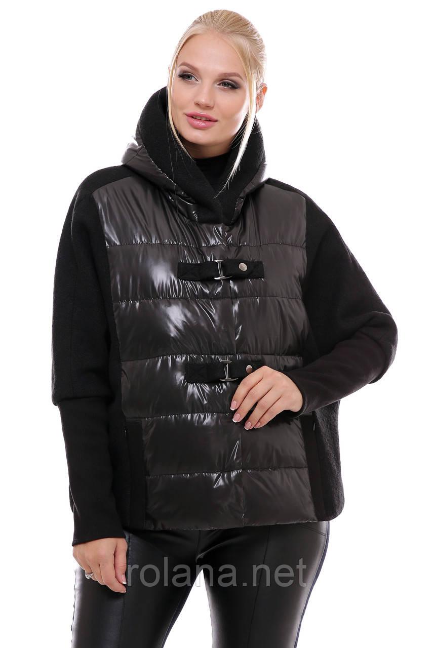 """Модная женская куртка на молнии. """"Чёрный"""""""