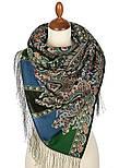 Четыре ветра 1881-59, павлопосадский шарф-палантин шерстяной с шелковой бахромой, фото 2