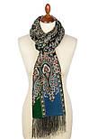Четыре ветра 1881-59, павлопосадский шарф-палантин шерстяной с шелковой бахромой, фото 3