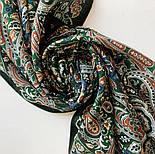 Четыре ветра 1881-59, павлопосадский шарф-палантин шерстяной с шелковой бахромой, фото 4