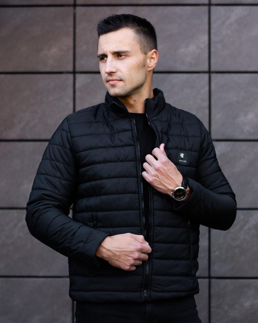 Куртка мужская черная.Мужская демисезонная куртка  Osten  Black. ТОП КАЧЕСТВО!!!