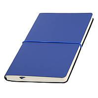 Записная книжка Горизонт синий, черный, красный А5 (Ivory Line, Италия) под тиснение с горизонтальной резинкой