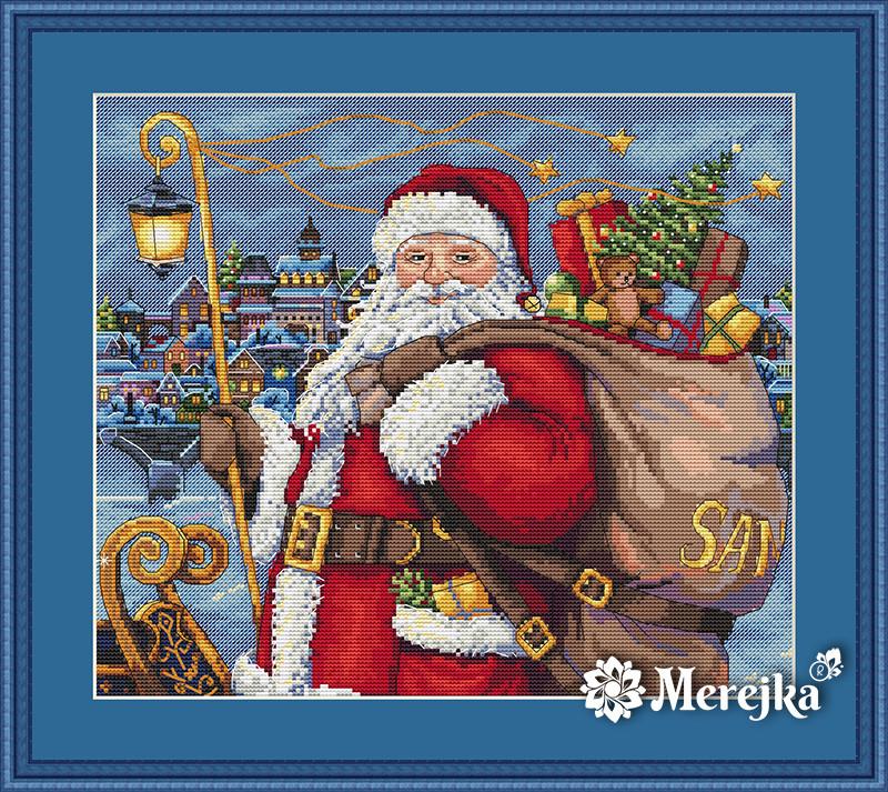 """Набір для вишивання хрестом """"Санта приходить!"""" Мережка"""