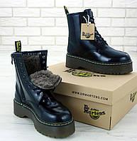 Женские зимние ботинки Dr. Martens Platform JADON black с мехом 36-40рр. Реальное фото. Топ реплика