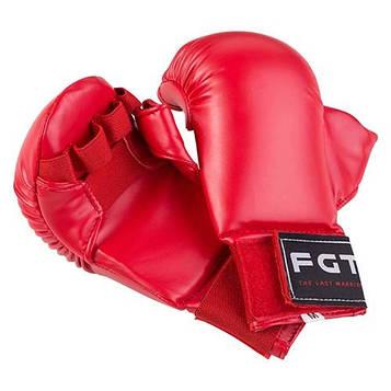 Накладки для карате FGT червоний PU F4008-R