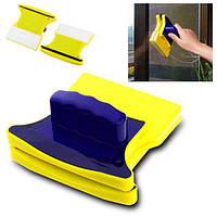 Двусторонний магнитный скребок щетка Double Side Glass Cleaner для мытья. полировки окон Gluderн Glider Глидер