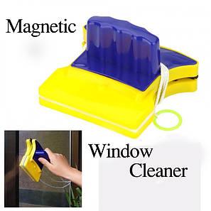 Двосторонній магнітний скребок щітка Double Side Glass Cleaner для миття. полірування вікон Gluderн Glider Глідер, фото 2