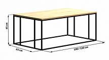 Кофейный Журнальный столик в стиле LOFT (NS-963246787), фото 2