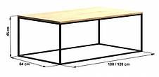 Кофейный Журнальный столик в стиле LOFT (NS-963246790), фото 3