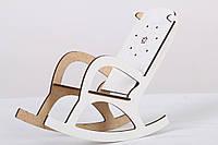 Кукольное кресло качалка белый BETБ21б