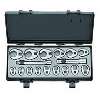 Набор ключей-насадок разрезных 17 пр. (10-26 мм)