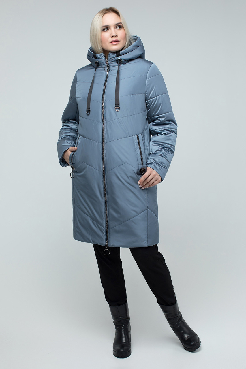 Зимняя женская куртка без меха, размеры 50-60