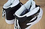Зимние мужские кроссовки Nike Air Force 1 Mid 07 LV8 Utility белые с черным с мехом. Живое фото. Реплика, фото 2