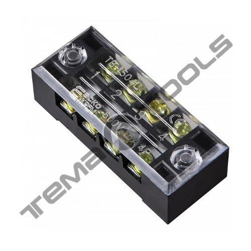 Клеммная колодка ТВ-1504 15А 4 полюса (блок зажимов)