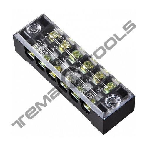 Клеммная колодка ТВ-2506 25А 6 полюсов (блок зажимов)