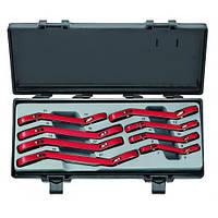 Набор ключей трещоточных накидных, отогнутых на 15° 8 пр. (6-22 мм)