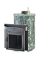Печь Мини Ламель до 16 м3. Печь для русской Бани в камне эмеевик.