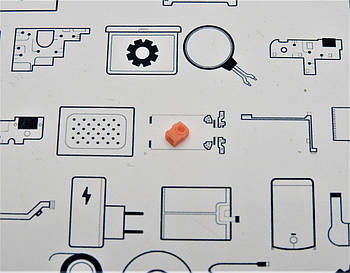 Ризиновая накладка микрофона Xiaomi Mi A1 Сервисный оригинал с разборки