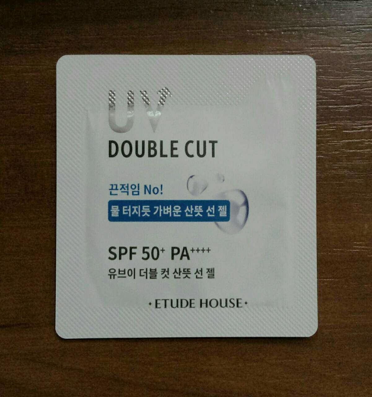 Солнцезащитный крем-гель Etude House UV Double Cut Fresh Sun Gel SPF50+ PA++++, пробник