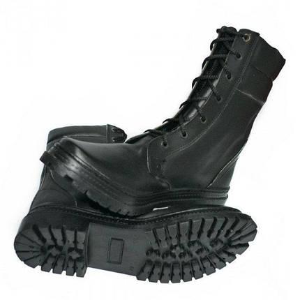 Берцы кожа Скорпион бортопрошивные НАТО демисезон черные, фото 2