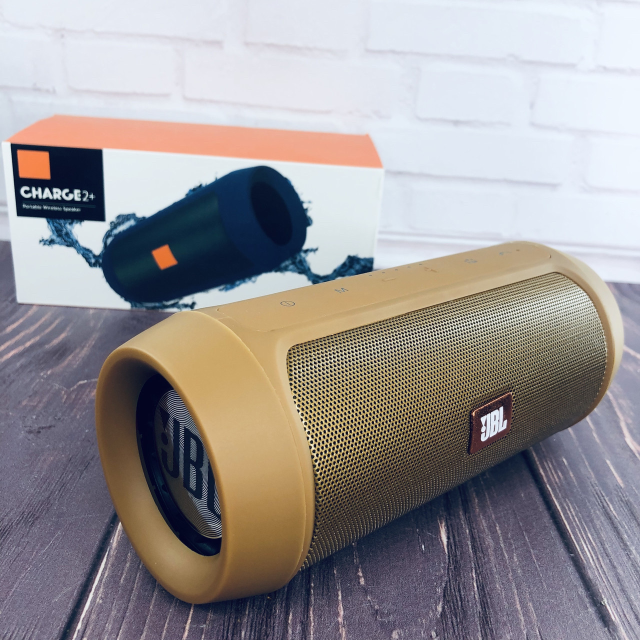 Jbl Charge 2 портативная колонка Bluetooth, звуковая Блютуз акустика реплика Золото