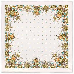 10876-0 (Пионы), павлопосадский платок из вискозы с подрубкой
