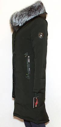 Куртка жіноча зима VISDEER 9111 (хутро чорнобурки) M, фото 3