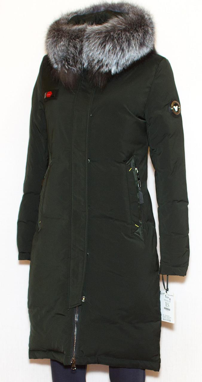 Куртка жіноча зима VISDEER 9111 (хутро чорнобурки) M