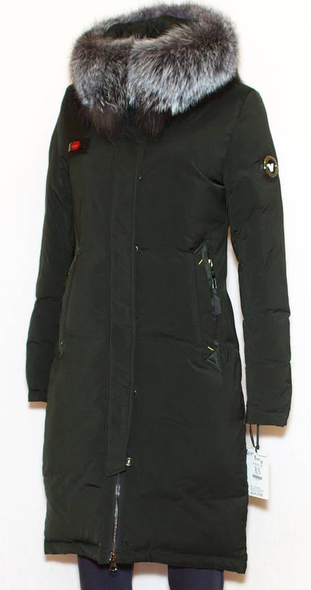 Куртка жіноча зима VISDEER 9111 (хутро чорнобурки) M, фото 2