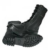 Берцы кожа Скорпион бортопрошивные НАТО Зима (Мех) черные, фото 2