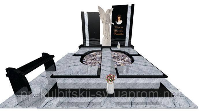 Надгробний пам'ятник з граніту світлого Е7008