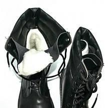Берцы кожа Скорпион бортопрошивные НАТО Зима (Мех) черные, фото 3