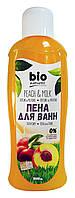 Пена для ванн Bio naturell Персик и молоко - 1 л.