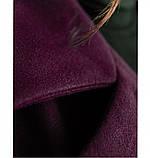Элегантное женское пальто из кашемира без застежек №318-1-Марсала, фото 4