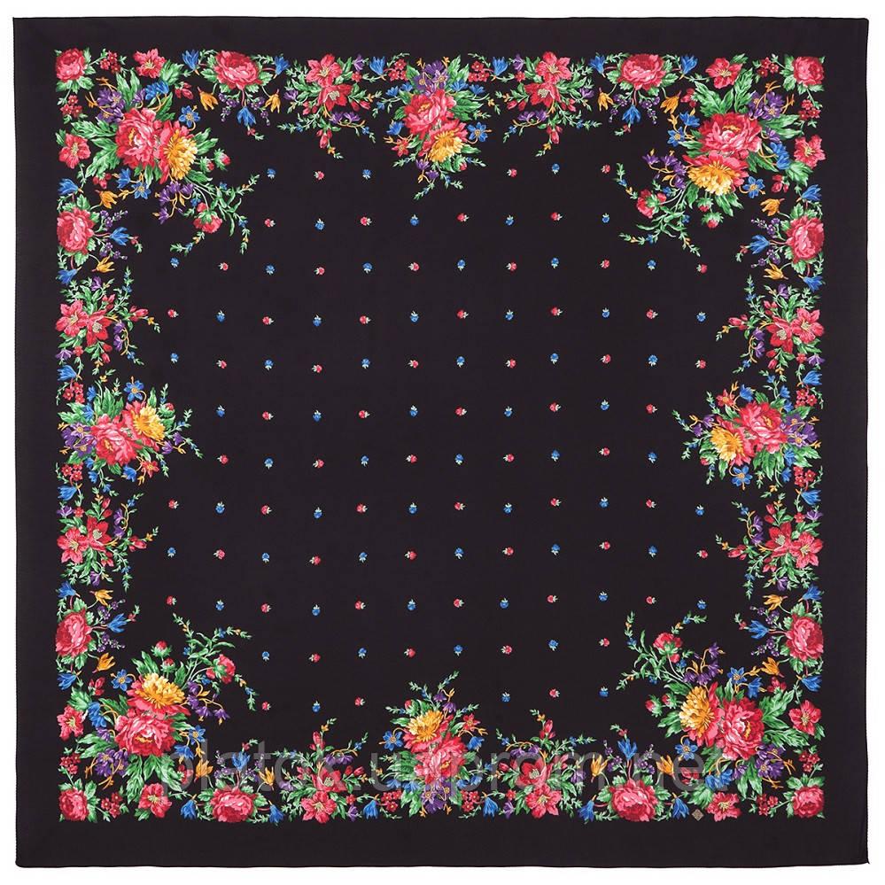 10876-18, павлопосадский платок из вискозы с подрубкой
