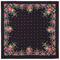10876-18, павлопосадский платок из вискозы с подрубкой, фото 1