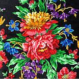 10876-18 (Пионы), павлопосадский платок из вискозы с подрубкой, фото 8