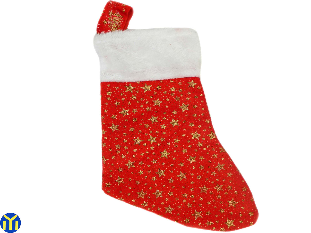 Новогодний носок, сапожок, Красный 30х17х20 см