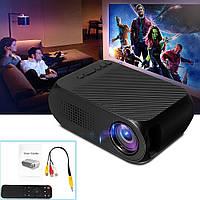 YG320 LCD мини проектор видео и аудио HDMI, USB, MicroSD, AV, черный