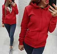 Кофта женская теплая спортивная с капюшоном S M L, фото 1