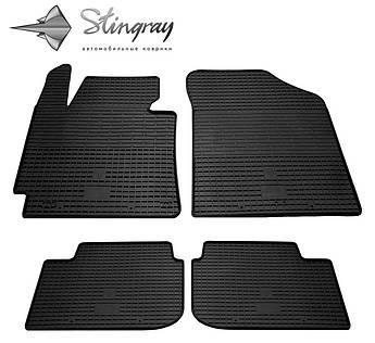 Hyundai Elantra 2011-2015 Комплект из 4-х ковриков Черный в салон