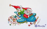 """Набор для вышивания крестом """"Рождественский полет"""" Мережка"""