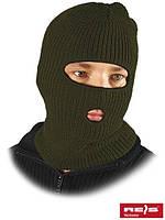 """Шапка-маска балаклава """"REIS"""" зимова, хакі, подвійна в'язання"""