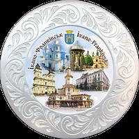Тарілка полікерамічна діаметром 18см.м. Івано-Франківськ (колаж)