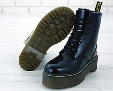 Женские ботинки Dr.Martens Black JADON кожа, ЗИМА черные. ТОП Реплика ААА класса., фото 2