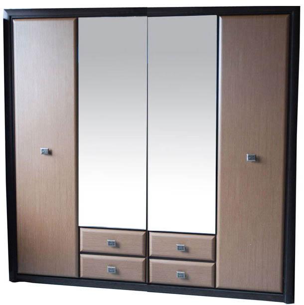 Шкаф для вещей Коен МДФ SZF_4D/2S венге магия/штрокс темный